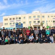 عکس دسته جمعی شرکت کنندگان پسر دومین کارسوق مهندسی ژنتیک قطب شاهرود