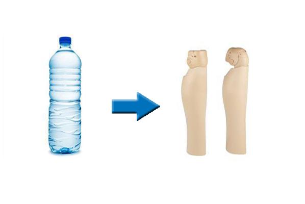 تبدیل بطریهای پلاستیکی به اندامهای پروتز