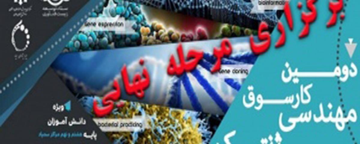 فرمت تهیه پوستر مرحله نهایی دومین کارسوق ملی مهندسی ژنتیک